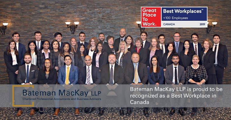 Bateman Mackay LLP recognized as one of Best Workplaces in Canada