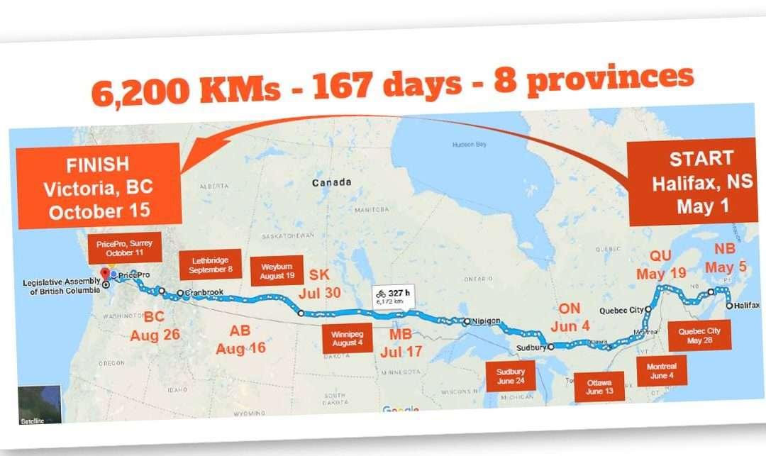 Cycling for Sobriety: John Volken Academy Grad Rides Across Canada