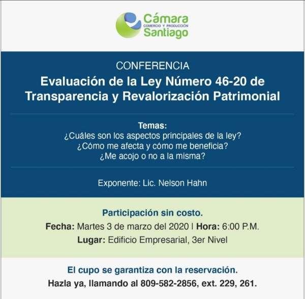 Nelson Hahn speaking at Cámara de Comercio y Producción Santiago conference