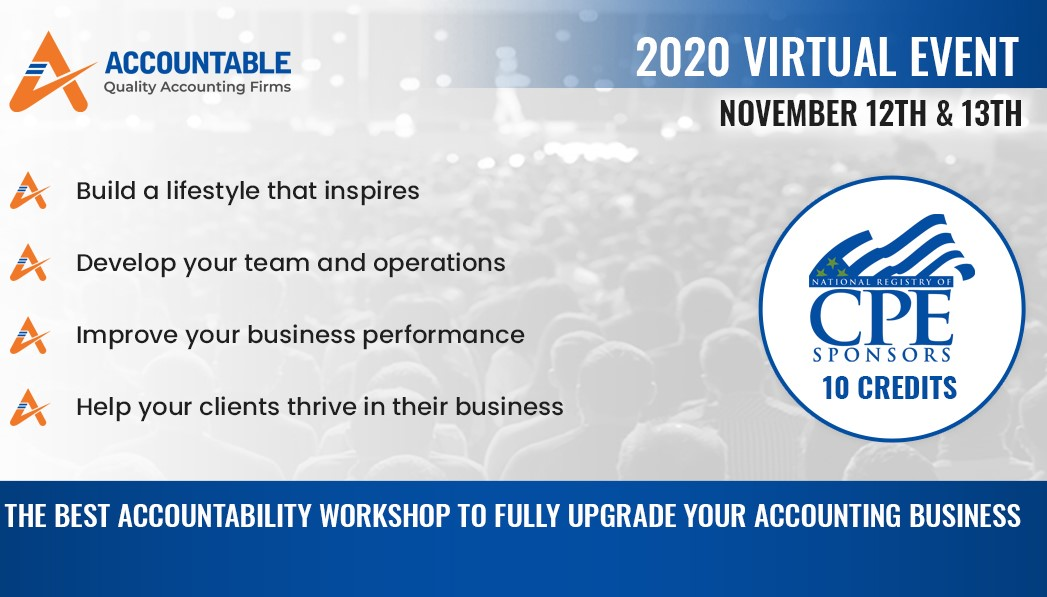 Accountable 2020 – The Best Workshop to fully upgrade your Accounting Business